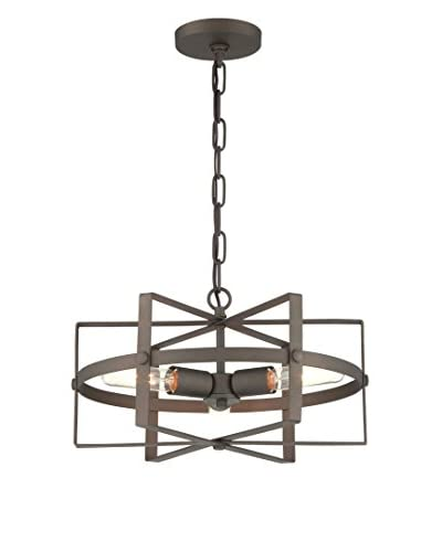 Varaluz Reel 3-Light Chandelier, Rustic Bronze