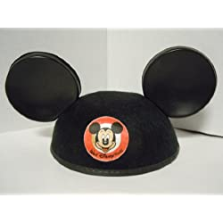 Mickey Mouse Ears Black Hat-Youth
