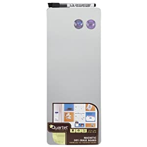 Quartet Magnetic Dry-Erase Board Tile, 5.5 x 14 Inches, Frameless, Assorted Colors (85401)