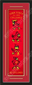 Heritage Banner Of Iowa State Cyclones With Team Color Double Matting-Framed Awesome... by Art and More, Davenport, IA