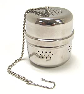 """Chrome Tea Ball Infuser - 1.5"""" Tall by 1.25"""" Wide"""