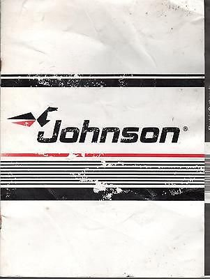 1989 Johnson Outboard Electric Motor Owners Manual