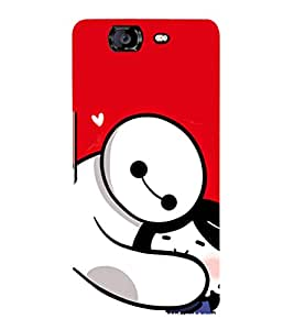EPICCASE Teddy Hug Mobile Back Case Cover For Micromax Canvas Knight A350 (Designer Case)