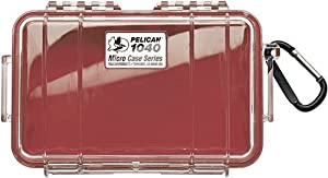 Pelican Micro Case Series Dry Boxes 1040, WL-WI-BK Case, Red 1040-005-170
