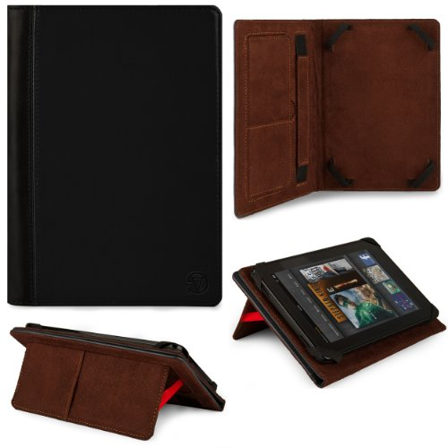 Black Vg Faux Leather Standing Portfolio Case Cover For Asus Memo Pad Smart 10 Me301T / Asus Memo Pad Fhd 10 / Asus Vivotab Smart Me400 / Asus Vivotab Rt Tf600T / Asus Transformer Pad Infinity Tf700T / Tf300Tg / Tf300T 10.1 Inch Tablets front-1065291