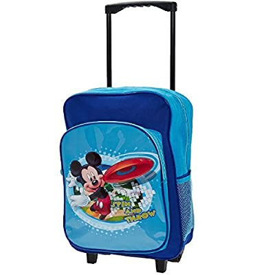 Disney Mickey Mouse Childrens Kids Large Deluxe Trolley Bag Suitcase Luggage Backpack Rucksack by Disney Mickey Mouse