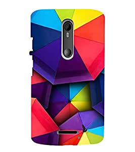 MULTICOLOURED TRADITIONAL UBBRELLA PATTERN 3D Hard Polycarbonate Designer Back Case Cover for Motorola Moto X3 :: Motorola Moto X (3rd Gen)
