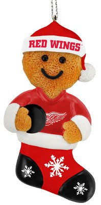 Detroit Red Wings Resin Gingerbread Man Ornament