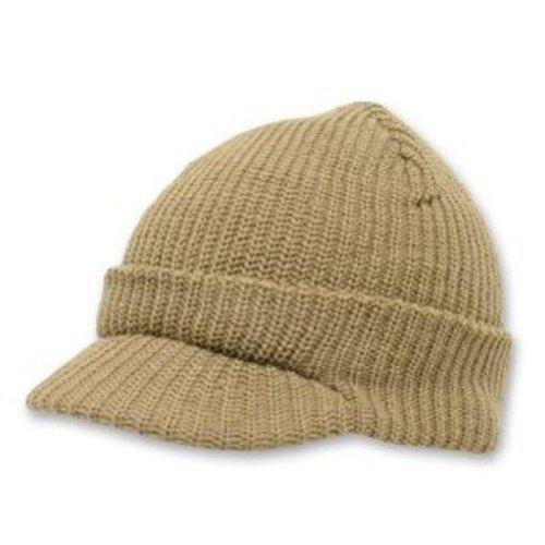 decky-knit-jeep-watch-cap-visor-beanie-one-size-khaki-tan