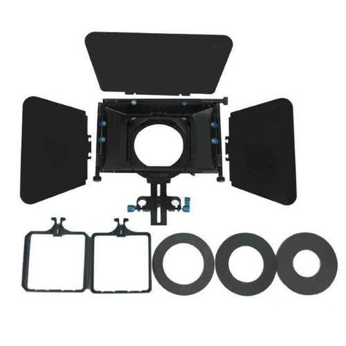 Koolertron Compact Pro Professional Video Camera Matte Box For 15Mm Rod Follow Focus Rig Dv 4X4 Rotatable Filter For Canon 550D 500D 600D 1100D 60D 50D 40D 5D 5Dii 5Diii Nikon D300 D5100 D3100 D3000 D5000 D90 D7