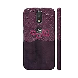 Colorpur Vintage Shabby Chic Purple Lace On Purple Artwork On Motorola Moto G4 / Moto G4 Plus Cover Cover | Artist: UtART