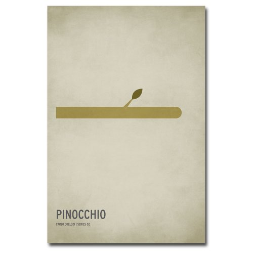 Trademark Fine Art Pinocchio Artwork by Christian Jackson, 24 by 36-Inch (Pinocchio Nose Growing)