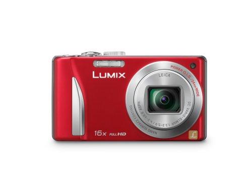 Panasonic DMC-TZ25EB-R Compact Camera - Red (12.1MP, 16x Optical Zoom) 3 inch LCD