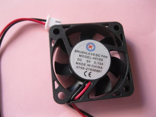 2 Pcs Brushless Dc Cooling Fan 5V 4010S 7 Blades 2 Wire 40X40X10Mm Sleeve-Bearing Skywalking
