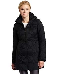 Columbia Women's Hexbreaker Long Down Jacket, Black, Small