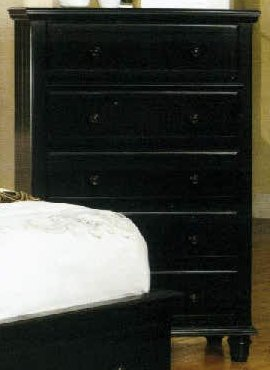 Willow Creek Black Cottage Chest Of Drawers front-1032962