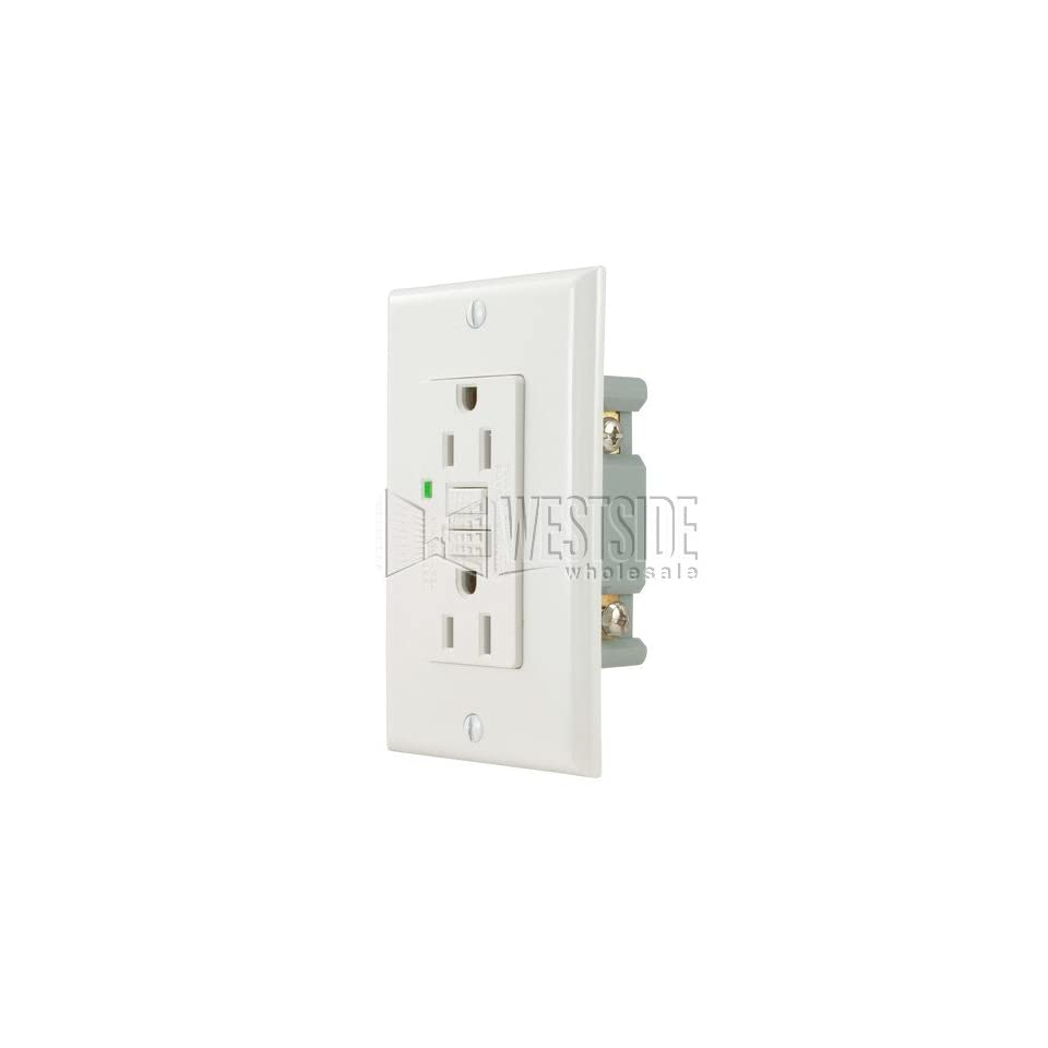 Gfci S06 G20 W 20a Ground Fault Circuit Interrupter Receptacle With Outlet