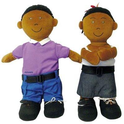 Miniland Boy Etni African-American Fastening Doll front-560307