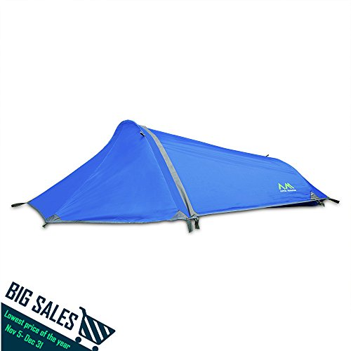 Arctic Monsoon Bivy Tent, Portable, Lightweight but Durable Single 1 Person Backpacking Shelter (Blue) (One Person Shelter compare prices)