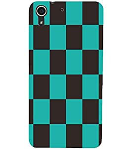 PRINTSWAG SQUARE PATTERN Designer Back Cover Case for HTC DESIRE 728