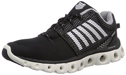 K-Swiss Women's X Lite Cross-Training Shoe, Black/Bright White/Griffin, 8 M US