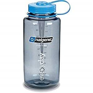 NALGENE Everyday Glowing Water Bottle Gray Black