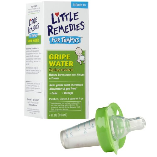 Little Remedies Tummys Gripe Water With Pacifier Medicine Dispenser, Green front-952921