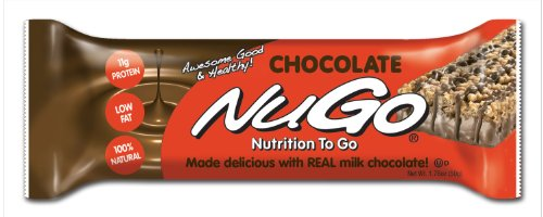 NuGo All-Natural Nutrition Bar, Chocolate, 1.76-Ounce Bars (Pack of 15)