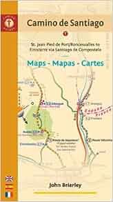Camino de santiago maps mapas cartes st jean pied de port roncesvalles to finisterre via - St jean pied de port to roncesvalles ...