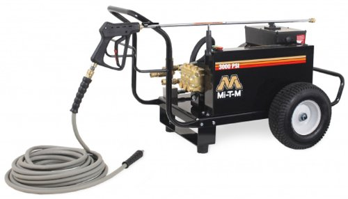 Mi-T-M Cw-3004-4Me1 Cw Premium Series Cold Water Electric Belt Drive, 7.5 Hp Motor, 230V, 32A, 3000 Psi Pressure Washer