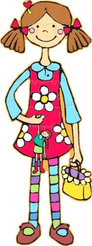 Picture of Djeco Lili, La Coquette Giant Puzzle (B004BWB9L2) (Floor Puzzles)