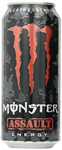 Monster Energy Drink, Assault, 16-Ounce Cans (Pack of 24)