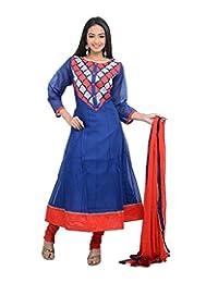Sareeshut Women's Cotton Regular Fit Anarkali Suits - B00WQZ5HZK