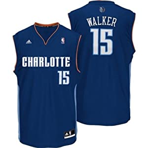 Buy Kemba Walker #15 Charlotte Bobcats NBA Youth Road Navy Jersey by adidas