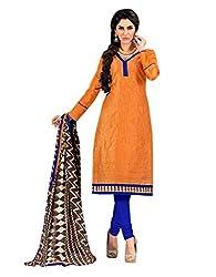 Varanga Yellow Embroidered Dress Material with Matching Dupatta KF7AKS13018