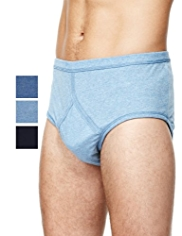 XXXL 3 Pack Classic Pure Cotton Marl Briefs