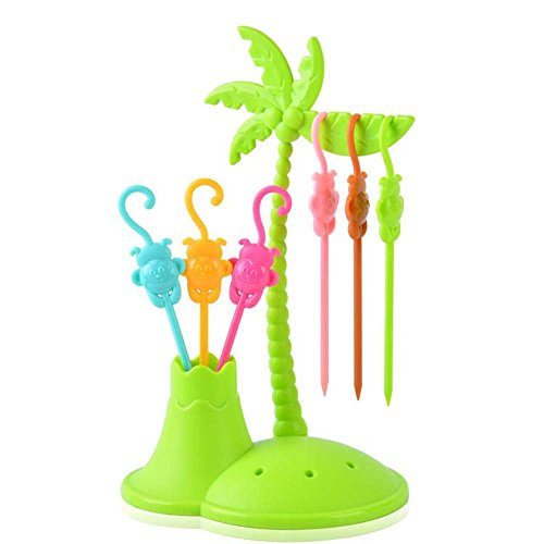Macnoon6 Tree Shape Fruit Fork Picks Kitchen Accessories Plastic Hook Toothpicks (Grape Fruit Picker compare prices)