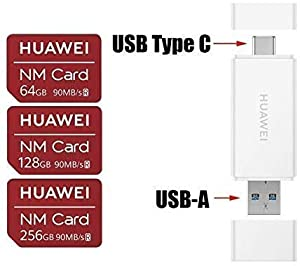 Huawei NM Card 256GB 90MB/S Nano Memory Card Mirco SD Card Compact Flash Card, only Suitable for Huawei P30 Series and Mate20 Series, 256GB (2 in 1 Reader)