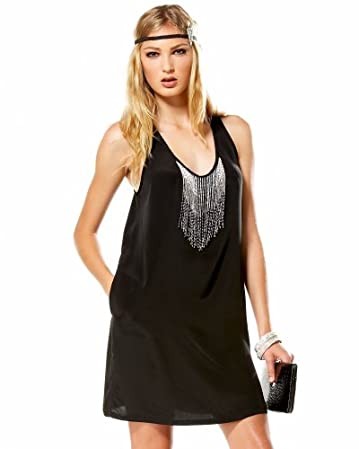 bebe Beaded Racerback Tank Dress :  dresses sytle short dress lbd
