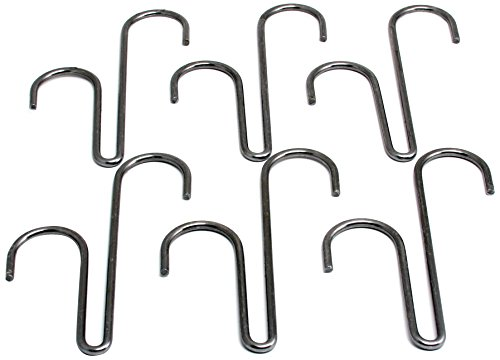 Enclume Double Level Hook, Set of 6, Use with Pot Racks, Hammered Steel