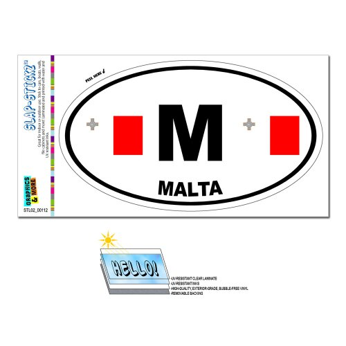 graphics-and-more-malta-country-flag-m-euro-oval-flag-slap-stickztm-automotive-car-window-locker-bum