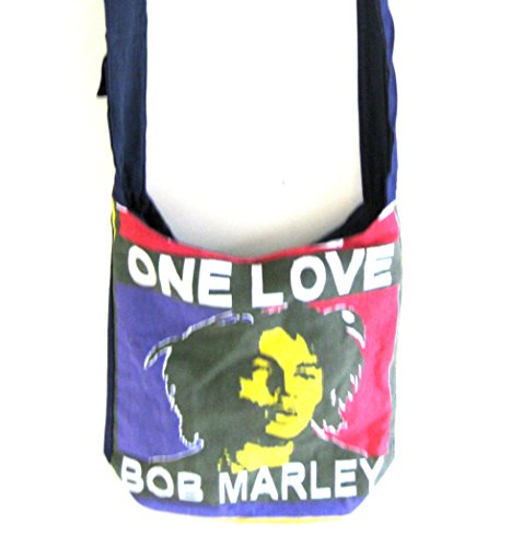 Bob Marley Rasta Jamaican Cotton Handbag, Shoulder Crossbody Boho Bag, Purse- OMA® BRAND