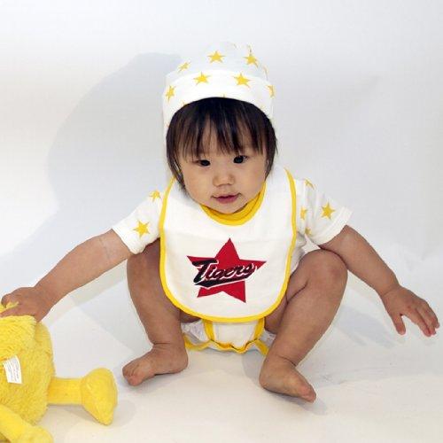 阪神タイガース ベビーボディシャツ・帽子・スタイの3点セット Tigers Star (70, 白)
