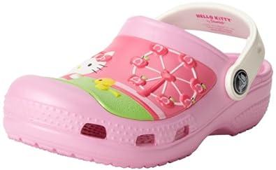 crocs 15568 Hellokitty FR Clog (Toddler/Little Kid),Carnation,10 M US Toddler