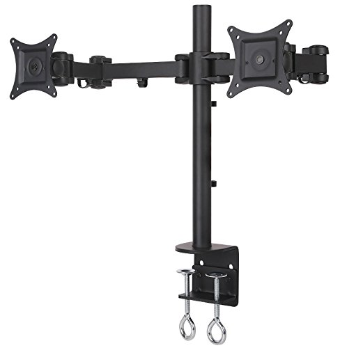 Best Prices! NYCCO Dual Monitor Stand By Nycco, Heavy Duty Desk Mount Fully Adjustable Fits 2 Screen...