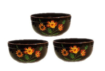 Kitchen Decor Tuscany Mediterranean 3pc Serving Mixing Fruit Bowls