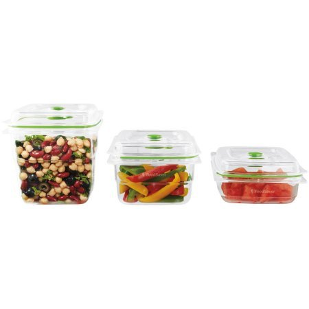 FoodSaver Fresh Containers, 3 Container Set, FA3SC358-000   easy storage in your cabinet (Foodsaver Vac 1050 compare prices)