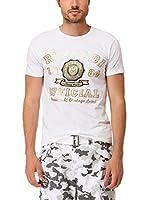 Rivaldi Camiseta Manga Corta Mandari (Blanco / Dorado)