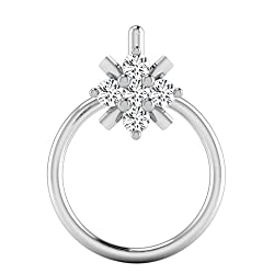 Forever Carat 18k white Gold nose pin diamond Nose Pin for girl