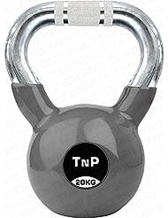 TNP Accessories® Cast Iron Kettlebell 20KG Rubber Coated Kettlebells Gym Fitness